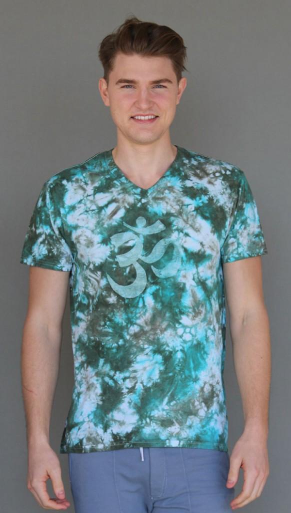 Men's Granite Dye OM Tee Jade/Turquoise by Blue Lotus Yogawear