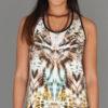 Tiger Print Cinch Back Yoga Tank by Blue Lotus Yogawear