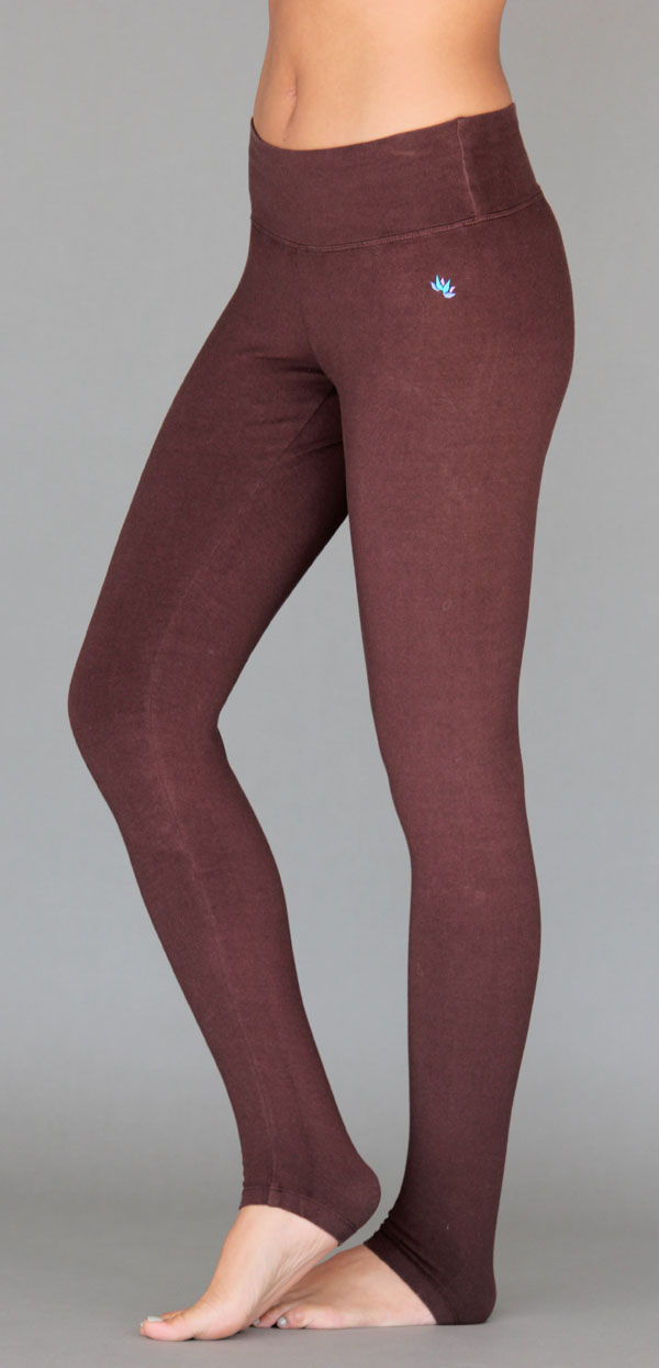 Organic Cotton Yoga Legging - Chocolate by Blue Lotus Yogawear