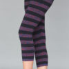 Variegated Stripe Cotton Lycra Crop Yoga Legging by Blue Lotus Yogawear