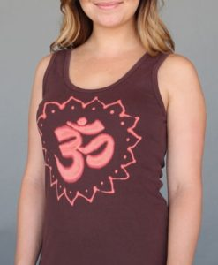 Om Symbol Yoga Tank Top - Chocolate