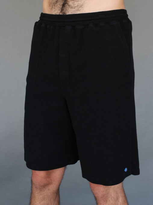 Men's Cotton Yoga Short With Pockets- Black - by Blue Lotus Yogawear