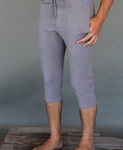 Men's Organic Cotton 4-way Stretch Capri Yoga Pant - Slate Grey by Blue Lotus Yogawear