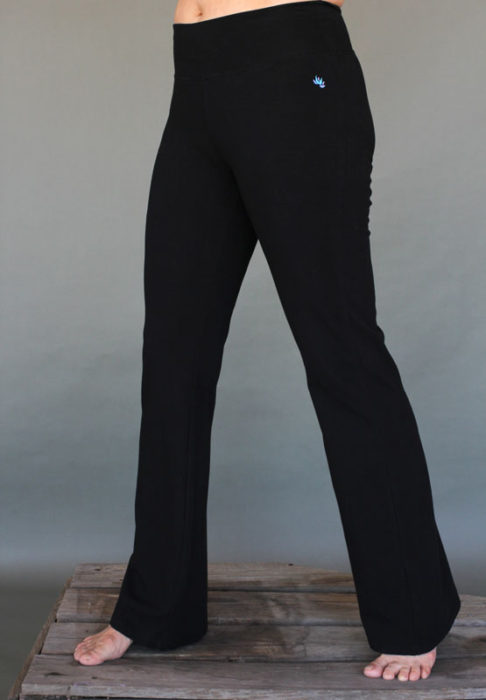 Organic Cotton Flare Leg Yoga Pant- BlackBy Blue Lotus Yogawear