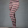 Striped Yoga Legging - Coral and Sand Stripe by Blue Lotus Yogawear