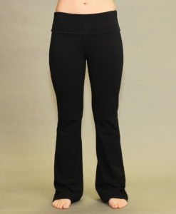 Organic Cotton Fold-over Waistband Yoga Pant - Black by Blue Lotus Yogawear