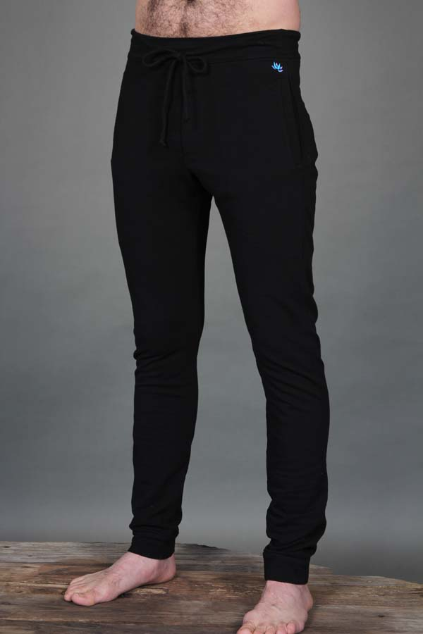 Men's Organic Cotton 4-Way Stretch Yoga Pant -Black  by Blue Lotus Yogawear