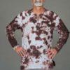 Men's Linen Long Sleeve Guru Shirt - Granite Tie Dye By Blue Lotus Yogawear