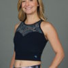 Organic Cotton Lace Yoke Tankini - Navy by blue Lotus Yogawear