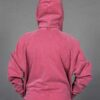 Zip Front Fleece Hoodie - Distressed Cranberry Back by Blue Lotus Yogawear