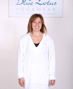 Organic Cotton Baja Hoody- Kundalini White by Blue Lotus Yogawear