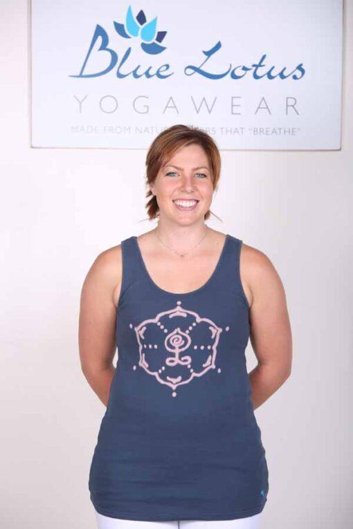 Inner Guru Motif Yoga Tank Top - Indigo by Blue Lotus Yogawear