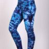 Organic Cotton High Waist Crystal Tie Dye Ankle Length Yoga Legging by Blue Lotus Yogawear