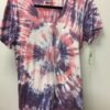100% Cotton Spiral Tie Dye OM Yoga Tee- Pink-Lilac by Blue Lotus Yogawear