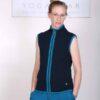 Organic Cotton Heart Zip Vest- Navy by Blue Lotus Yogawear