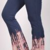 Organic Cotton Bleach Tie Dye Flare Leg Yoga Pant - Indigo by Blue Lotus Yogawear