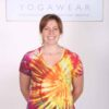 100% Cotton Spiral Tie Dye Yoga Tee- Malibu Sunset by Blue Lotus Yogawear