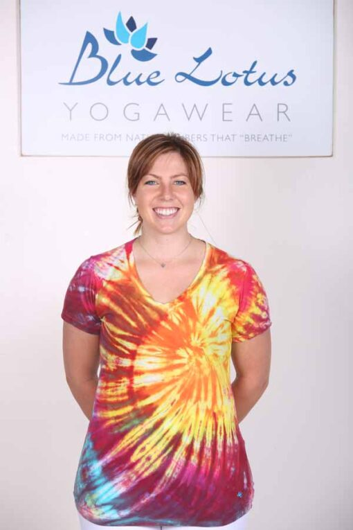 Sunrise Tie Dye Cotton Tee by Blue Lotus Yogawear