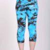 Organic Cotton Crop Yoga Legging - Turq Brown Crystal Dye Back by Blue Lotus Yogawear