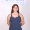 Organic Cotton Double Cross Back Cami with Built-in Bra-Indigo by Blue Lotus Yogawear