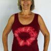 Aura Burst Tie Dye Yoga Tank Top - Wine by Blue Lotus Yogawear