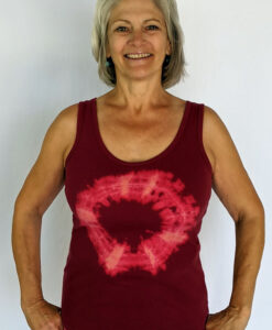 Aura Burst Tie Dye Yoga Tank Top - Wine by Blue Lotus Yogawear