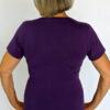 Organic Cotton Aura Burst Yoga Fit Tee- Purple back