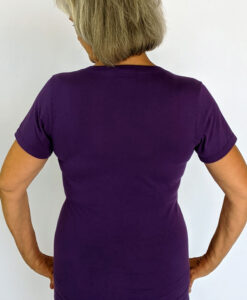 Organic Cotton Aura Burst Yoga Fit Tee- Purple back