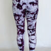 Organic Cotton Ankle Length Yoga Legging- Purple Tie Dye Back by Blue Lotus Yogawear