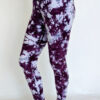 Organic Cotton Ankle Length Yoga Legging- Purple Tie Dye by Blue Lotus Yogawear
