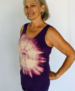 Aura Burst Tie Dye Yoga Tank Top - Purple by Blue Lotus Yogawear