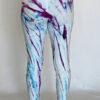 Shibori Dye High Waist Ankle Length Yoga Legging Back by Blue Lotus Yogawear