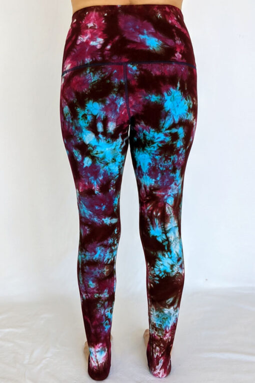 High Waist Ankle Length Yoga Legging -Wine Back by Blue Lotus Yogawear