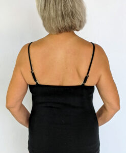 Organic Cotton Cami with Adjustable Straps- Black by Blue Lotus Yogawear