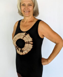 Aura Burst Tie Dye Yoga Tank Top - Black by Blue Lotus Yogawear
