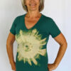 Organic Cotton Aura Burst Yoga Fit Tee- Jade by Blue Lotus Yogawear