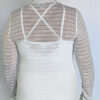 Light Weight Cotton Novelty Knit Sweater Back by Blue Lotus Yogawear
