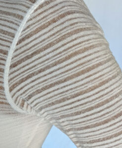 Light Weight Cotton Novelty Knit Sweater - Stripe by Blue Lotus Yogawear