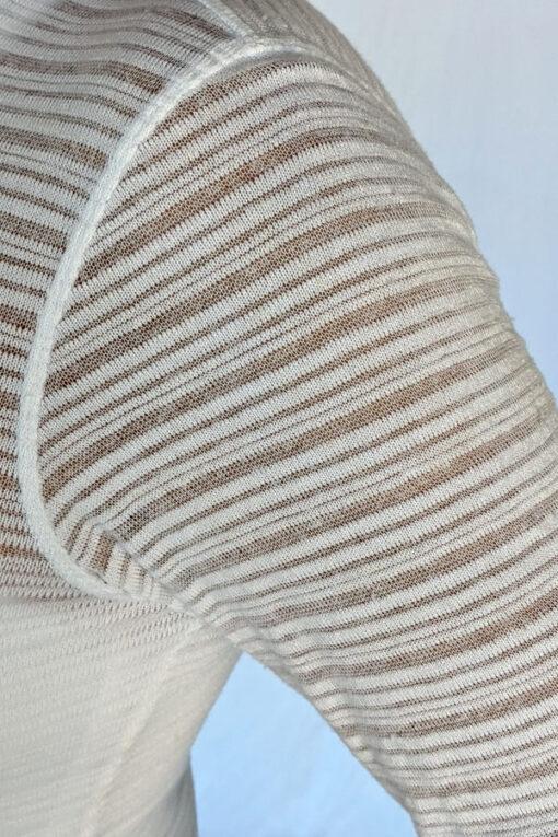 Light Weight Cotton Novelty Knit Sweater - Stripe by Blue Lotus Yogawear