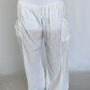Kundalini White Gauze Pant with Organic Cotton Inside Short by Blue Lotus Yogawear