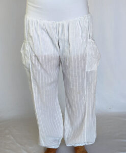 Kundalini White Gauze Pant with Organic Cotton Inside Short by Blue Lotus Yogawear