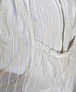 Gauze Long Sleeve Dress - Kundalini White Fabric Detail