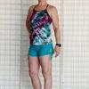 """Brazilian Butt Lift"" Yoga Short- Jade Organic Cotton Outfit by Blue Lotus Yogawear"
