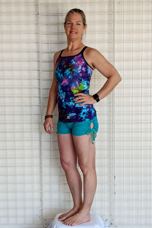 """Brazilian Butt Lift"" Yoga Short- Jade Organic Cotton Outfit #2 by Blue Lotus Yogawear"