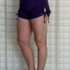 """Brazilian Butt Lift"" Yoga Short- Purple Organic Cotton by Blue Lotus Yogawear"