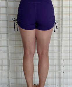 """Brazilian Butt Lift"" Yoga Short- Purple Organic Cotton Back by Blue Lotus Yogawear"