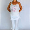 Organic Cotton Ganesha Cami with Adjustable Straps- Kundalini White Outfit by Blue Lotus Yogawear