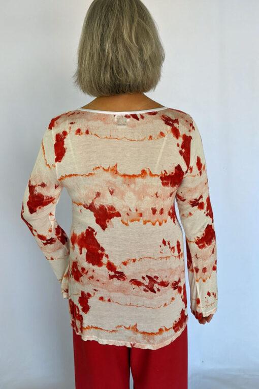 Printed Cotton Empire Waist BackSweater by Blue Lotus Yogawear