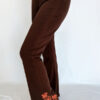 Organic Cotton Mehndi Design Flare Leg Yoga Pant - Brown by Blue Lotus Yogawear