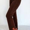 Organic Cotton Mehndi Design Flare Leg Yoga Pant - Brown by Blue Lotus Yogawear
